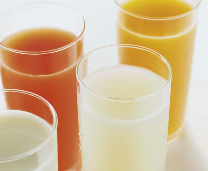 Sélection de boissons aux fruits