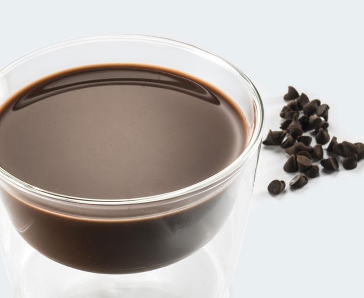 Chocolate flavour dessert