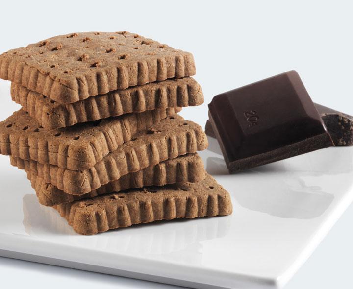 Biscuits saveur chocolat
