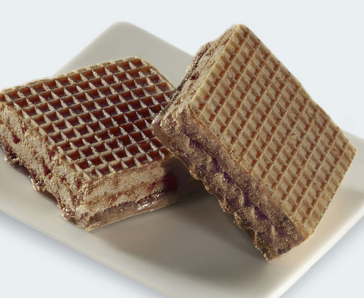 Chocolate flavour wafer