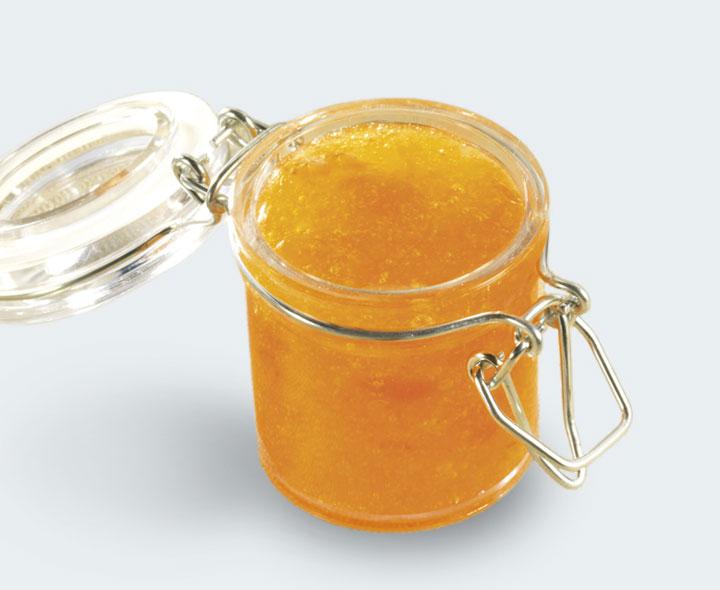 Orange flavour coulis