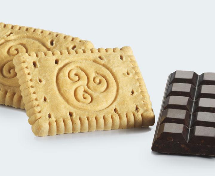 Biscuits et chocolat noir crunch