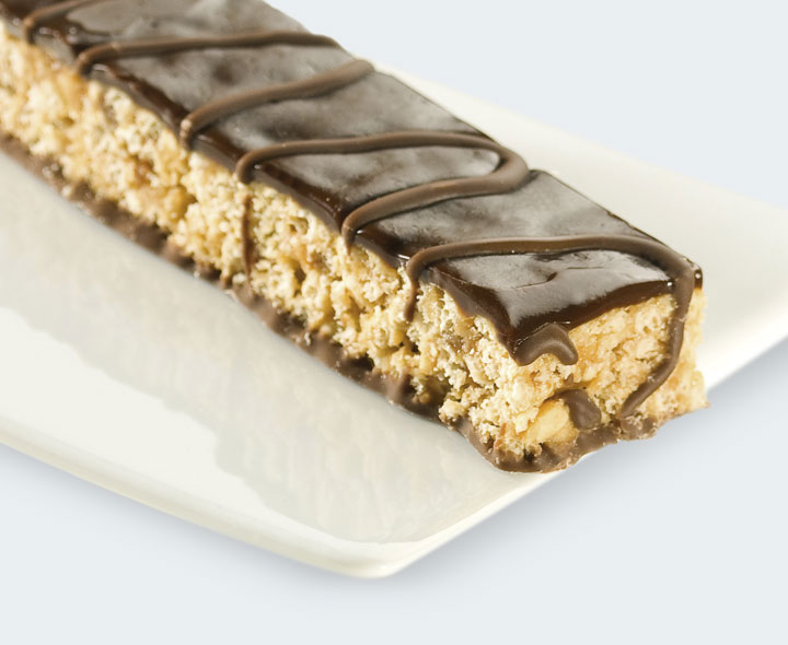 Chocolate and peanut flavour bars