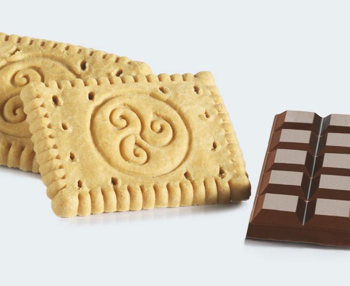 Biscuits et chocolat au lait crunch