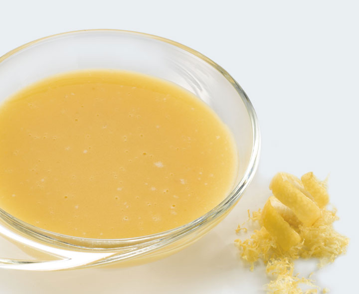 Lemon flavour dessert