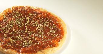 Pizza con guarnición