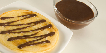 Pancake con coulis sabor Chocolate